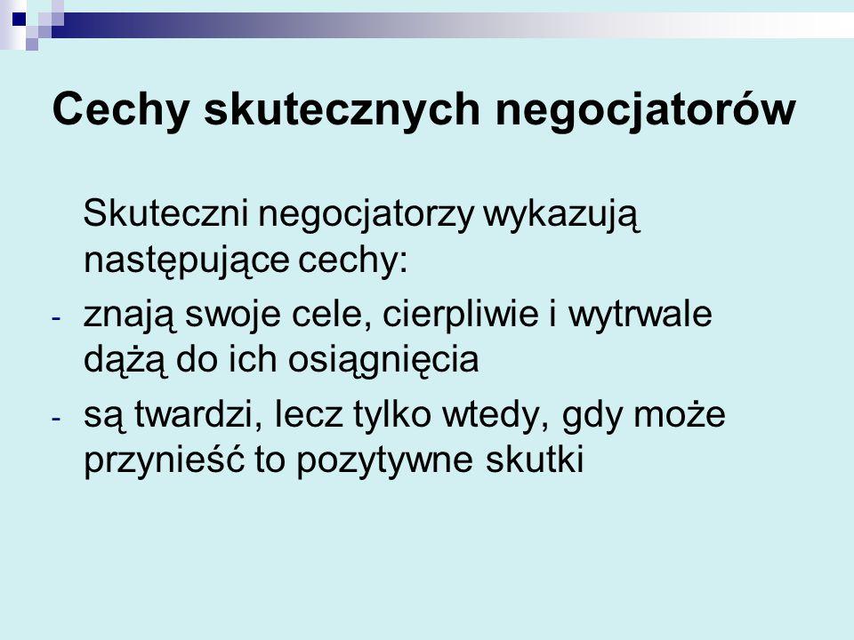 Cechy skutecznych negocjatorów