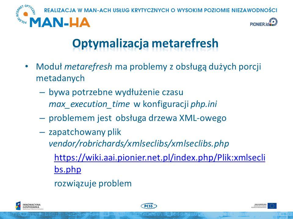 Optymalizacja metarefresh