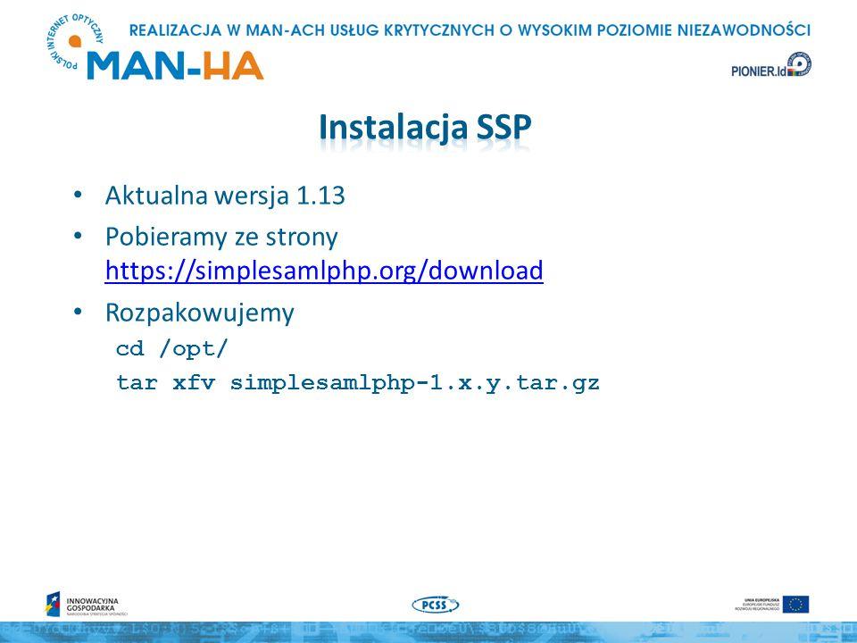Instalacja SSP Aktualna wersja 1.13