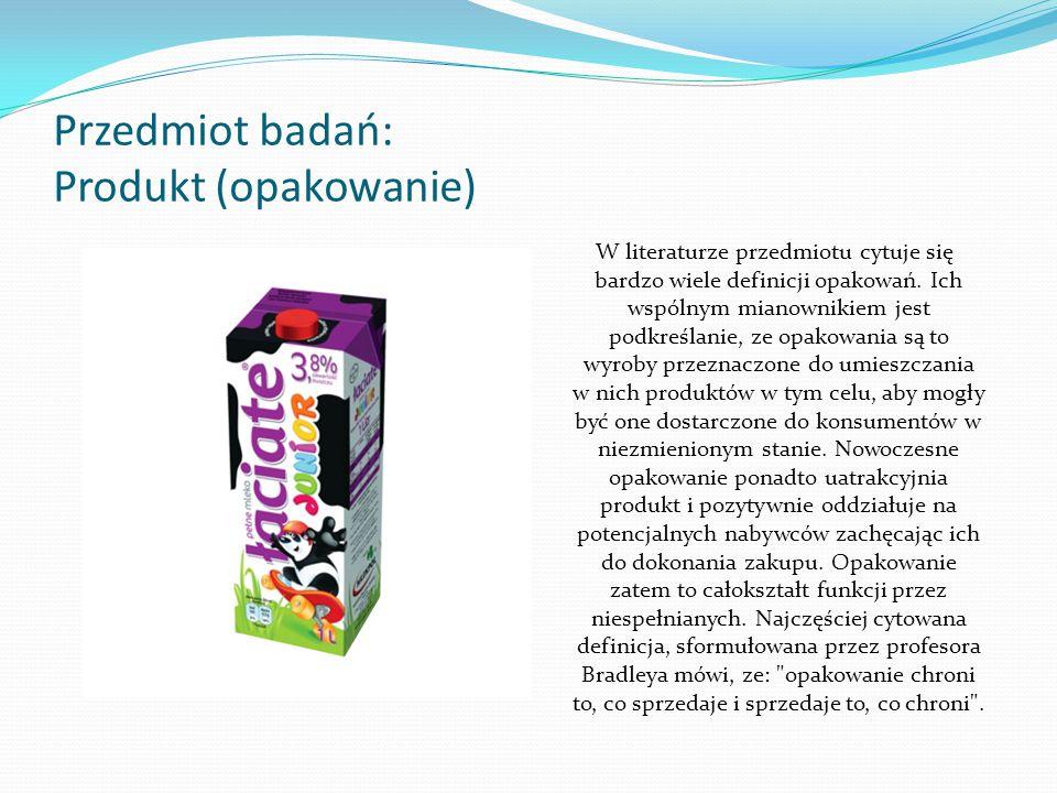 Przedmiot badań: Produkt (opakowanie)