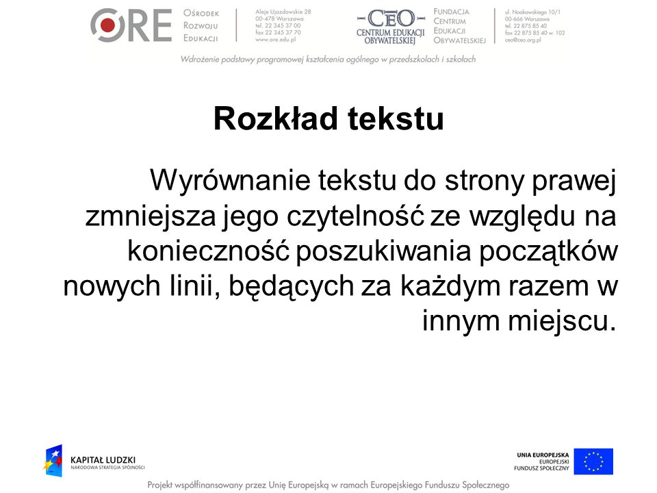 Rozkład tekstu
