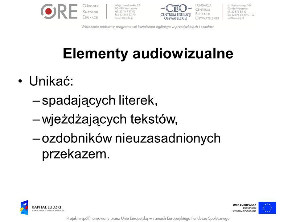 Elementy audiowizualne