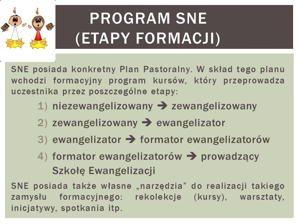 Program SNE (etapy formacji)