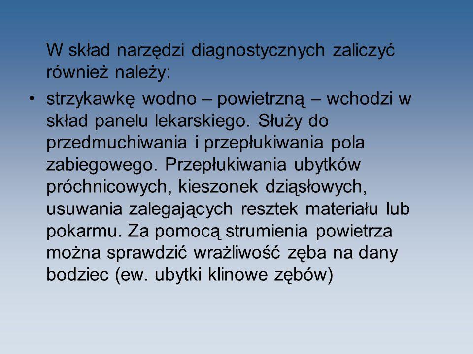 W skład narzędzi diagnostycznych zaliczyć również należy: