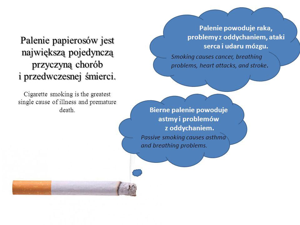 Bierne palenie powoduje astmy i problemów z oddychaniem.
