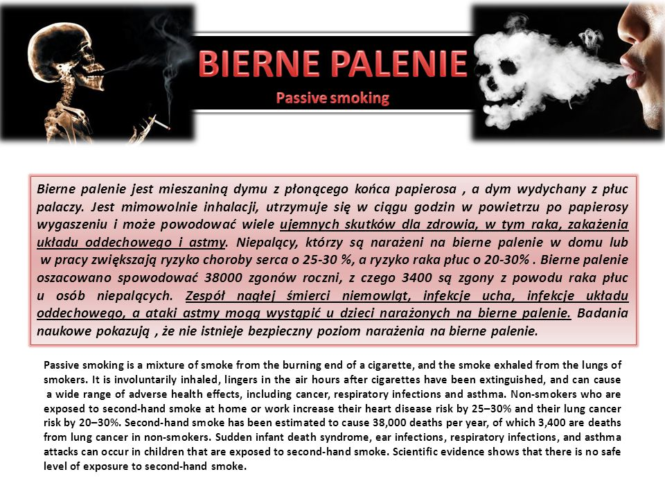 BIERNE PALENIE Passive smoking
