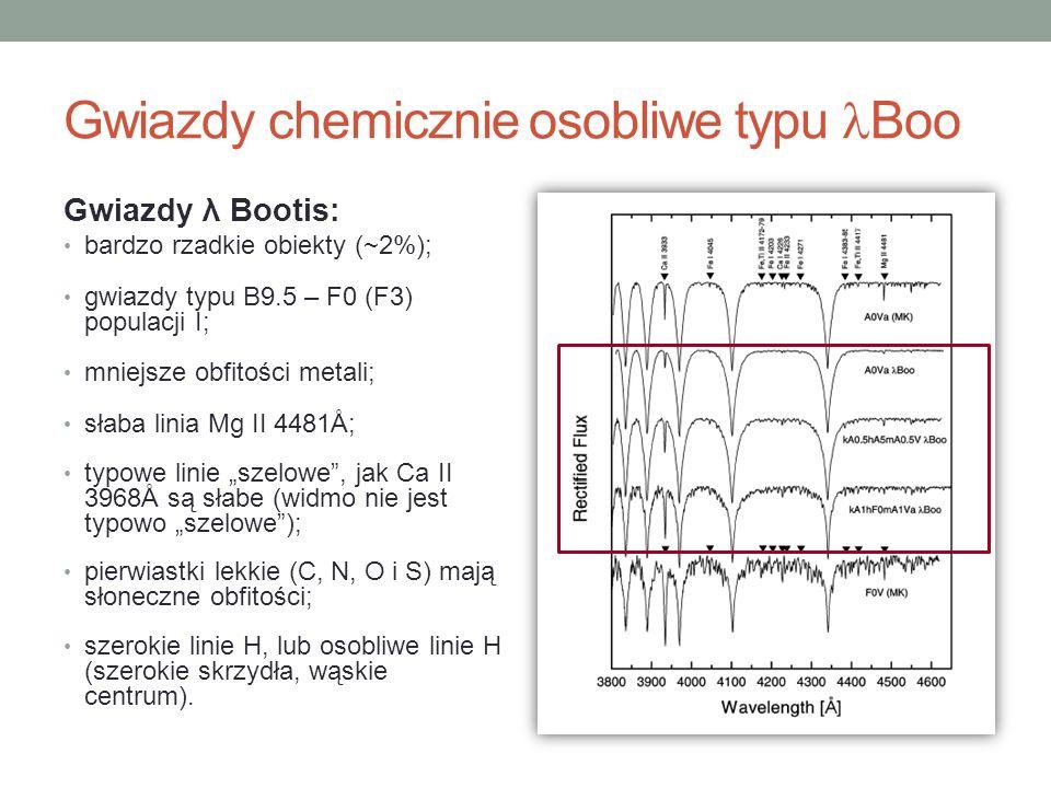 Gwiazdy chemicznie osobliwe typu Boo