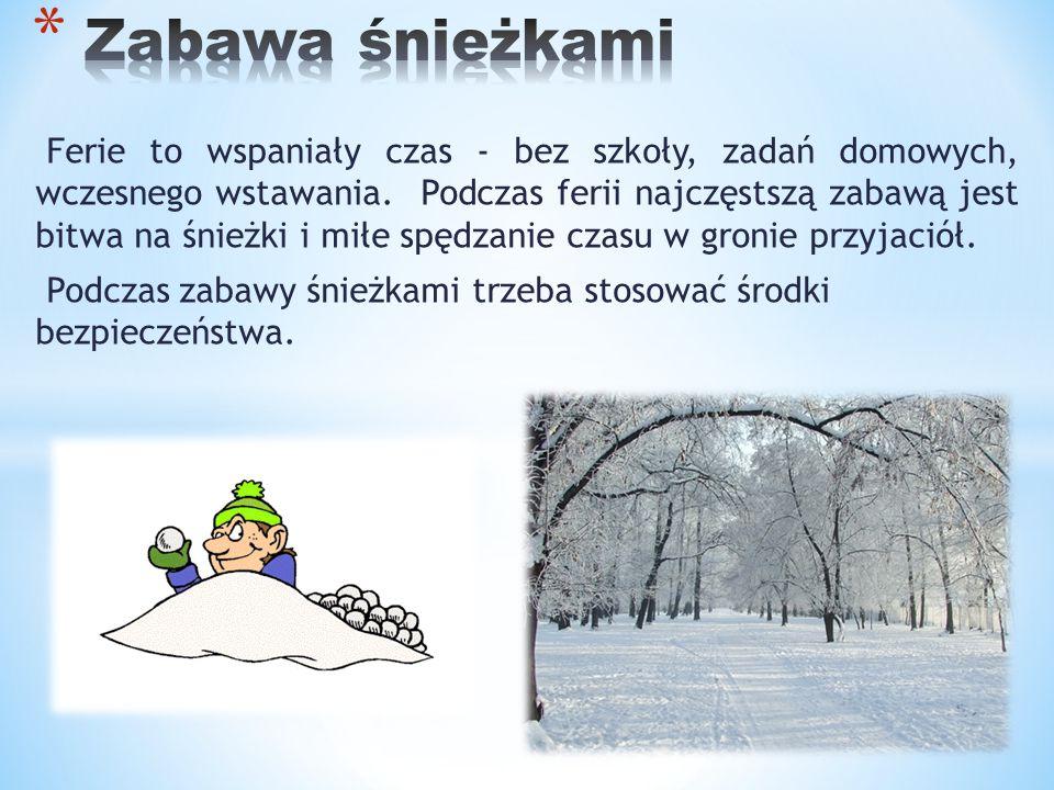 Zabawa śnieżkami
