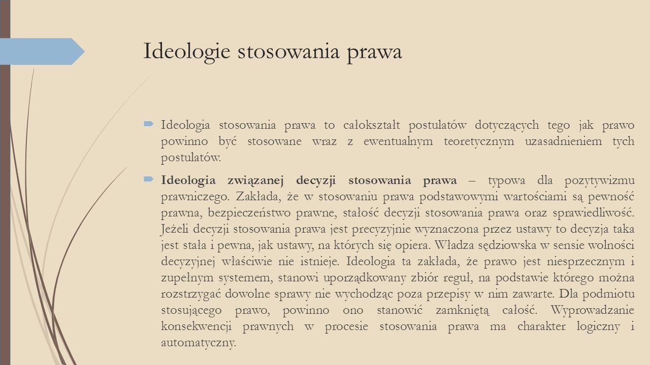 Ideologie stosowania prawa