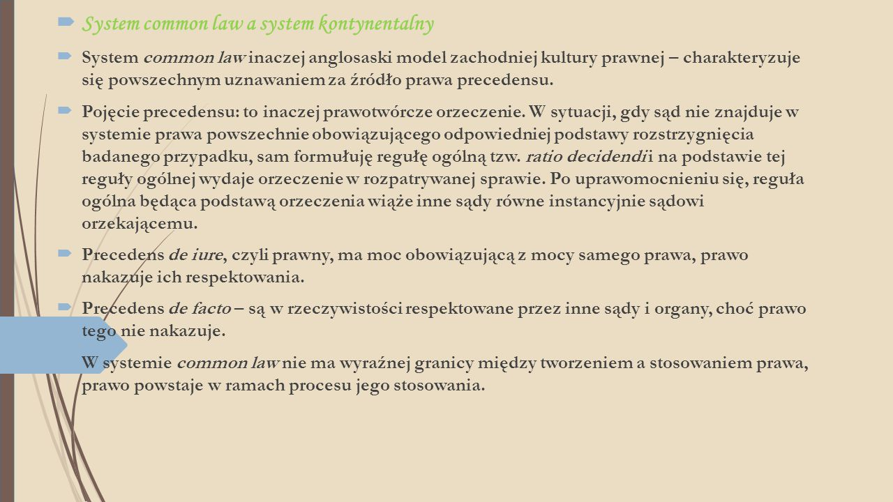 System common law a system kontynentalny