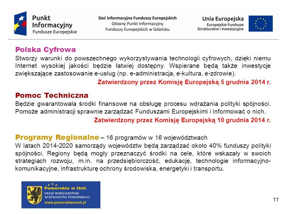 Programy Regionalne – 16 programów w 16 województwach