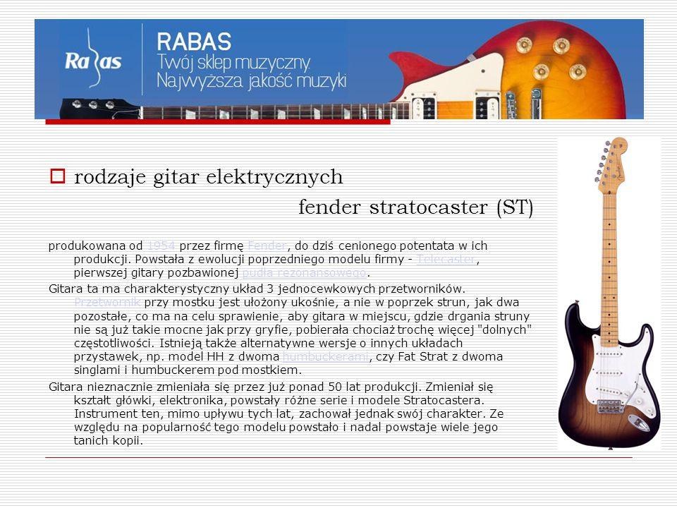 rodzaje gitar elektrycznych fender stratocaster (ST)