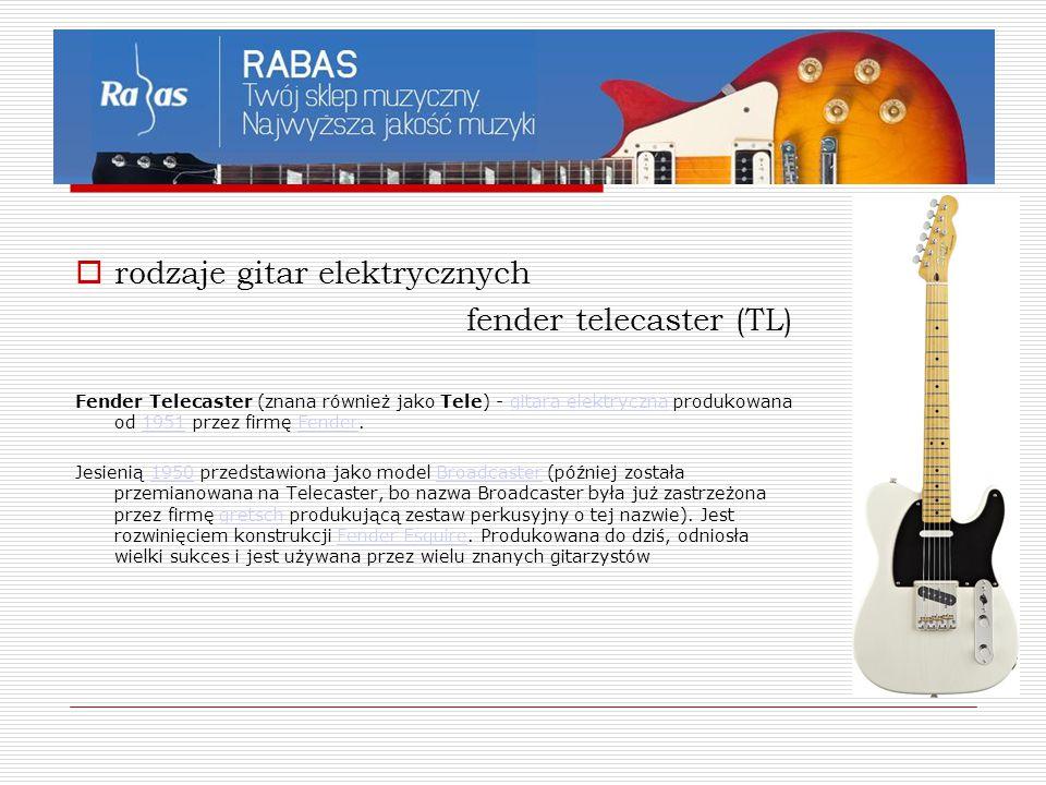 rodzaje gitar elektrycznych fender telecaster (TL)