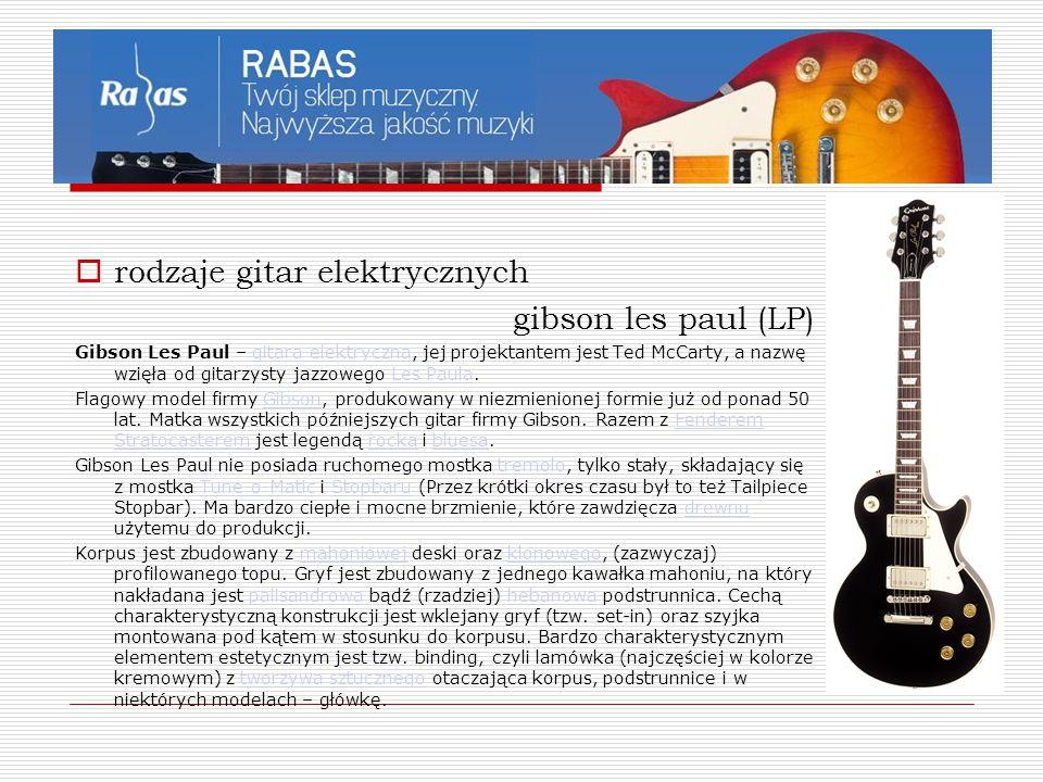rodzaje gitar elektrycznych gibson les paul (LP)