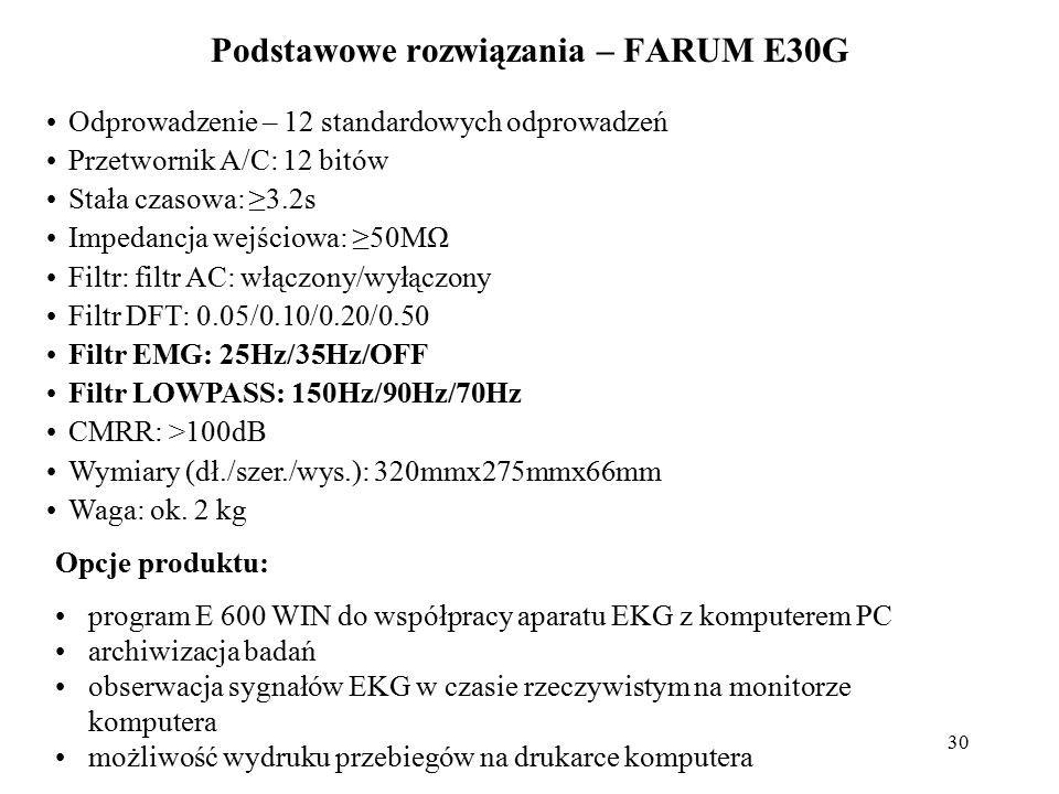 Podstawowe rozwiązania – FARUM E30G