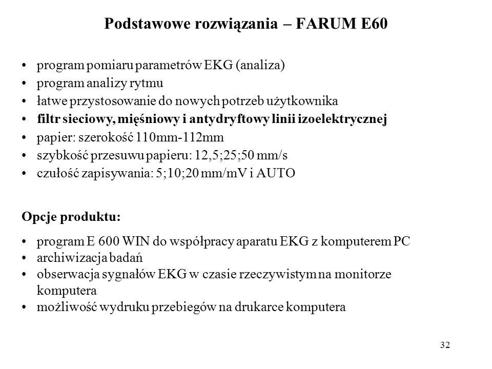 Podstawowe rozwiązania – FARUM E60