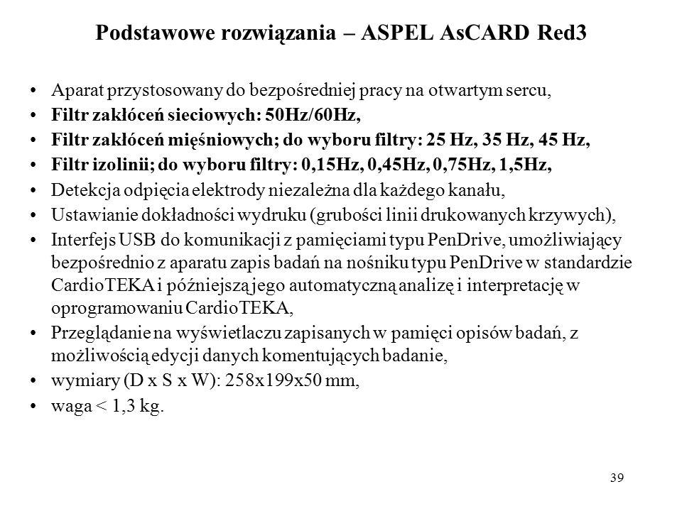 Podstawowe rozwiązania – ASPEL AsCARD Red3