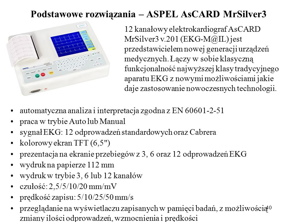 Podstawowe rozwiązania – ASPEL AsCARD MrSilver3