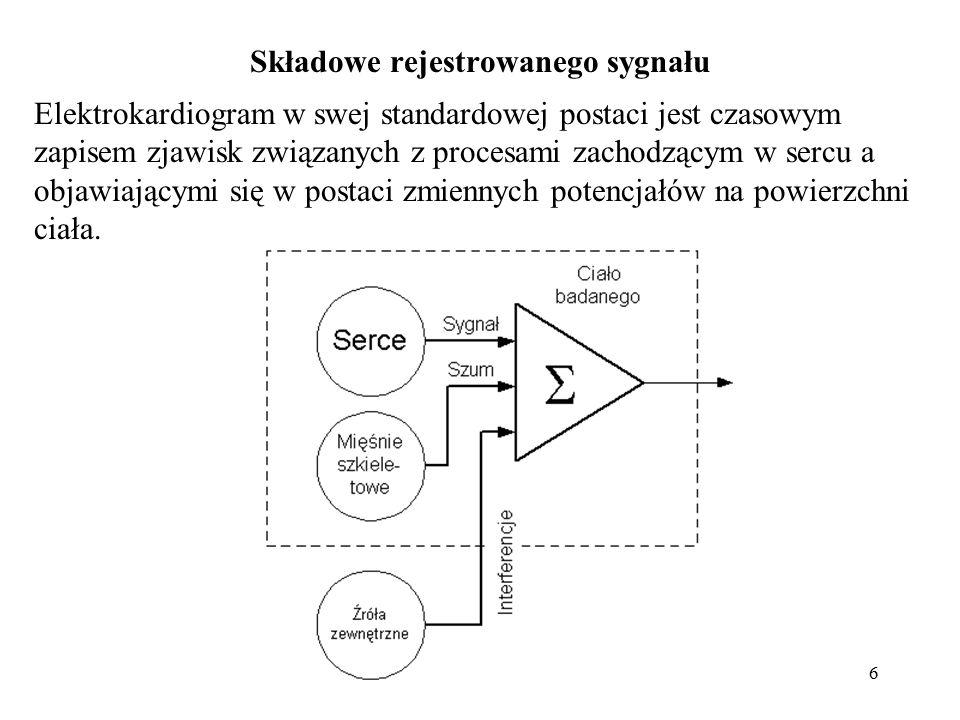 Składowe rejestrowanego sygnału