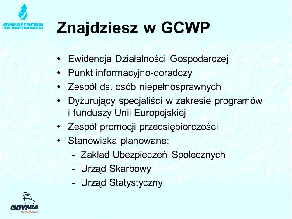 Znajdziesz w GCWP Ewidencja Działalności Gospodarczej