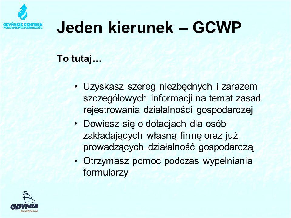 Jeden kierunek – GCWP To tutaj…