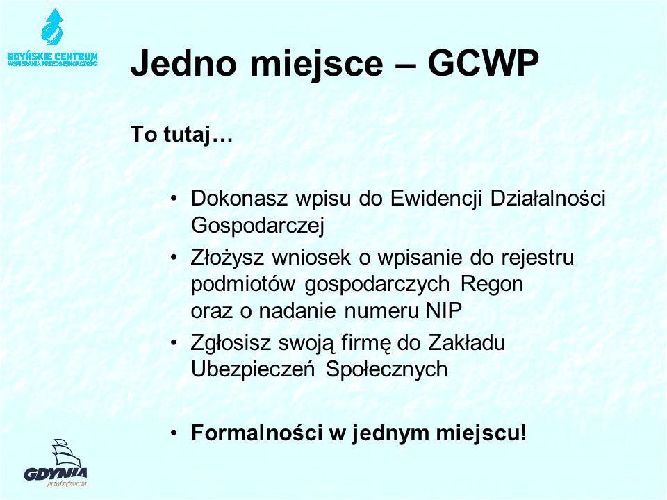 Jedno miejsce – GCWP To tutaj…