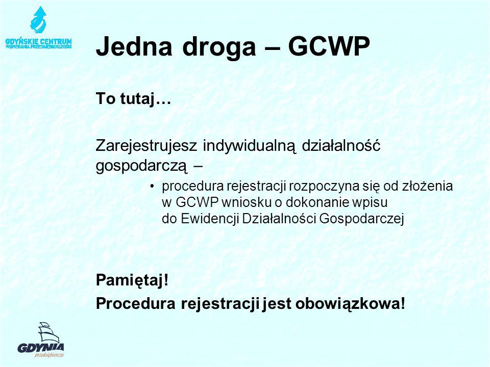 Jedna droga – GCWP To tutaj…