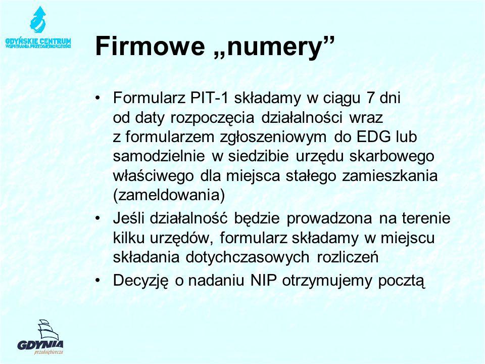 """Firmowe """"numery"""