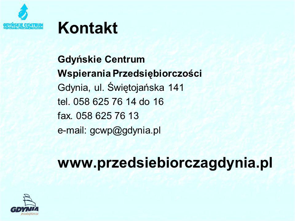 Kontakt www.przedsiebiorczagdynia.pl Gdyńskie Centrum
