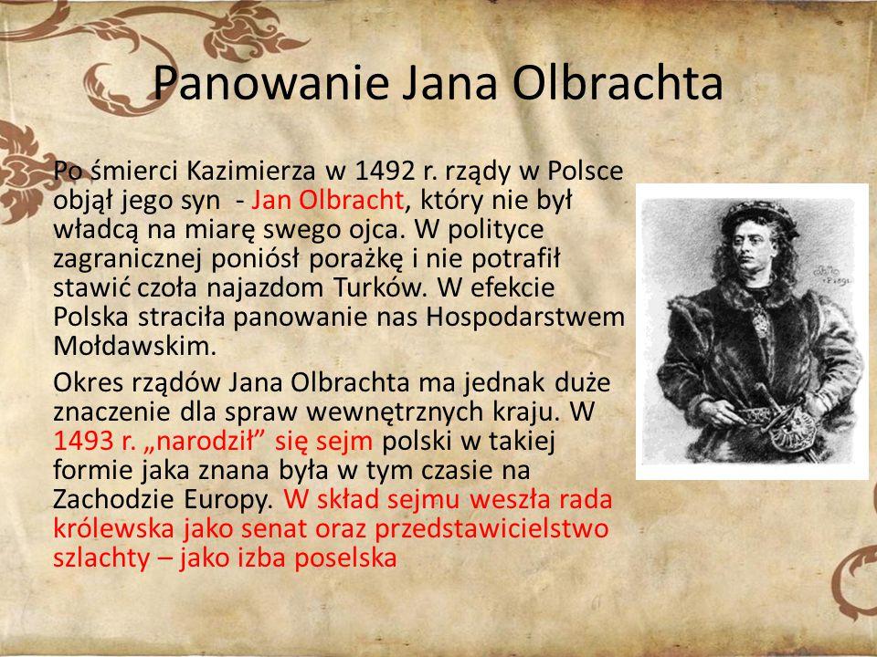 Panowanie Jana Olbrachta
