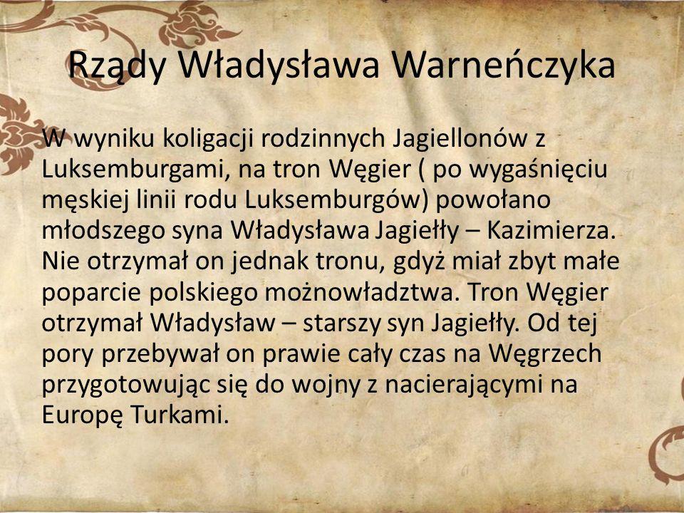 Rządy Władysława Warneńczyka