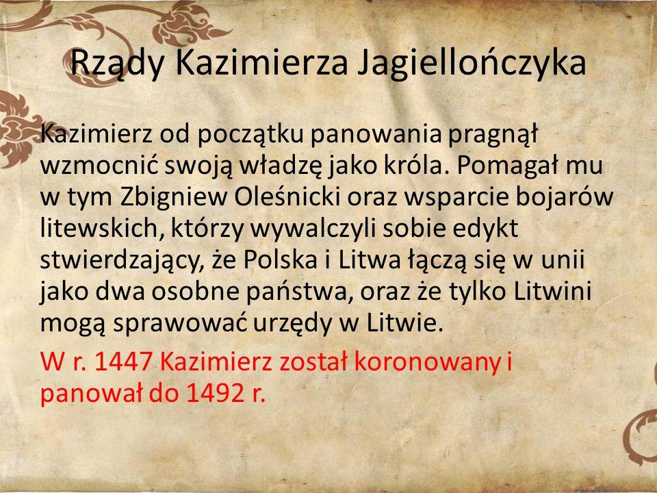 Rządy Kazimierza Jagiellończyka