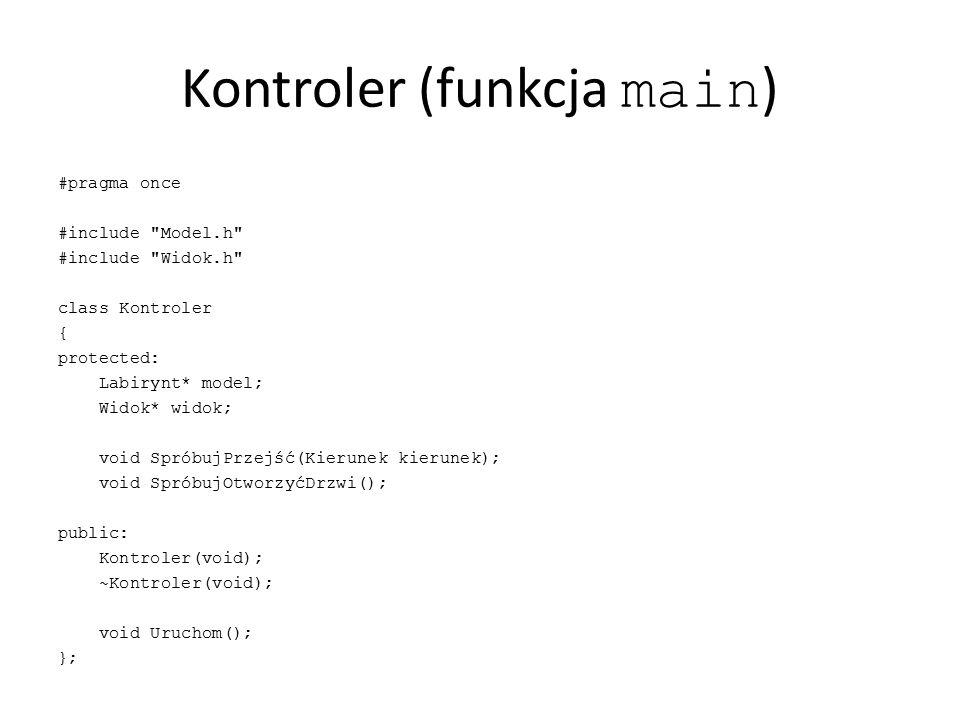 Kontroler (funkcja main)