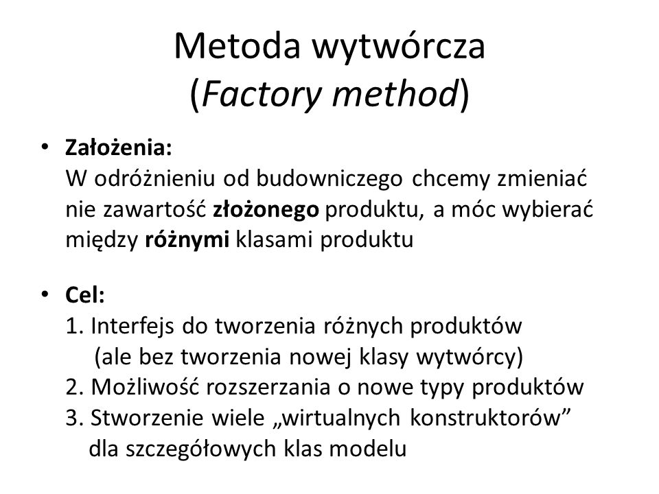 Metoda wytwórcza (Factory method)