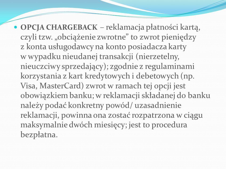 OPCJA CHARGEBACK – reklamacja płatności kartą, czyli tzw