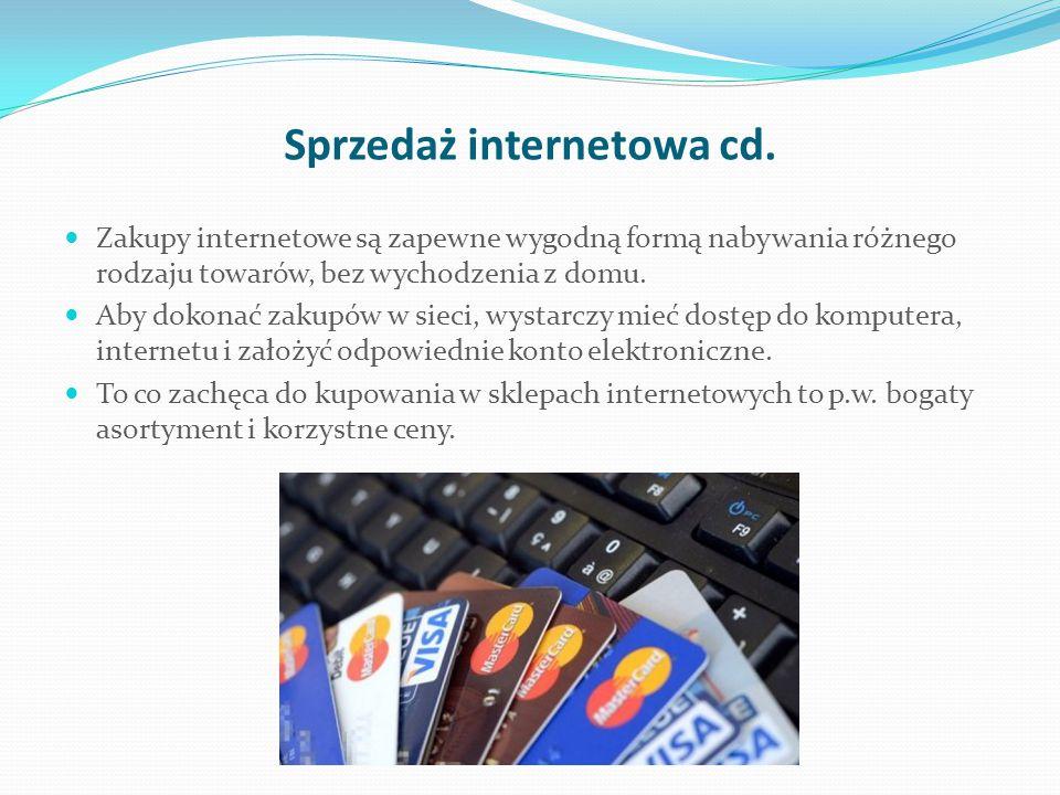 Sprzedaż internetowa cd.