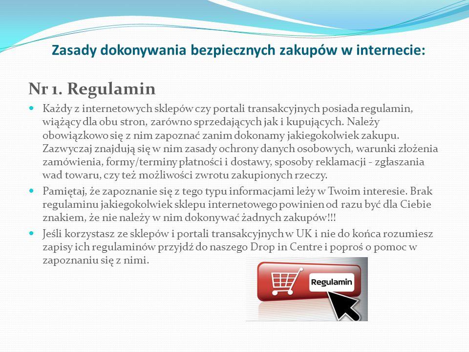 Zasady dokonywania bezpiecznych zakupów w internecie: