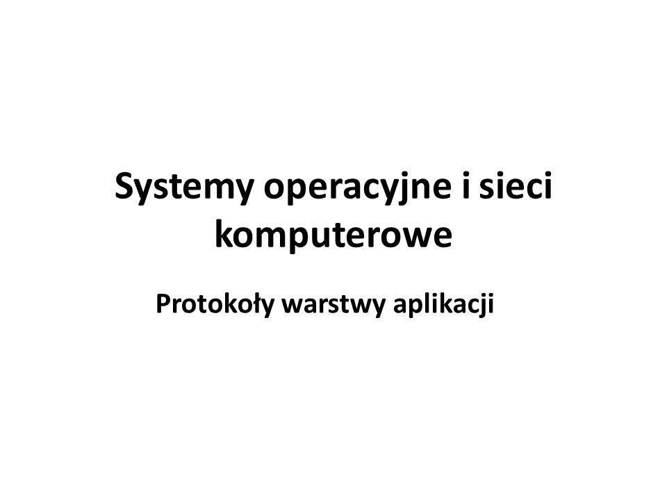 Systemy operacyjne i sieci komputerowe