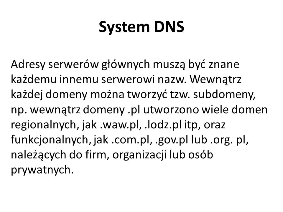 System DNS