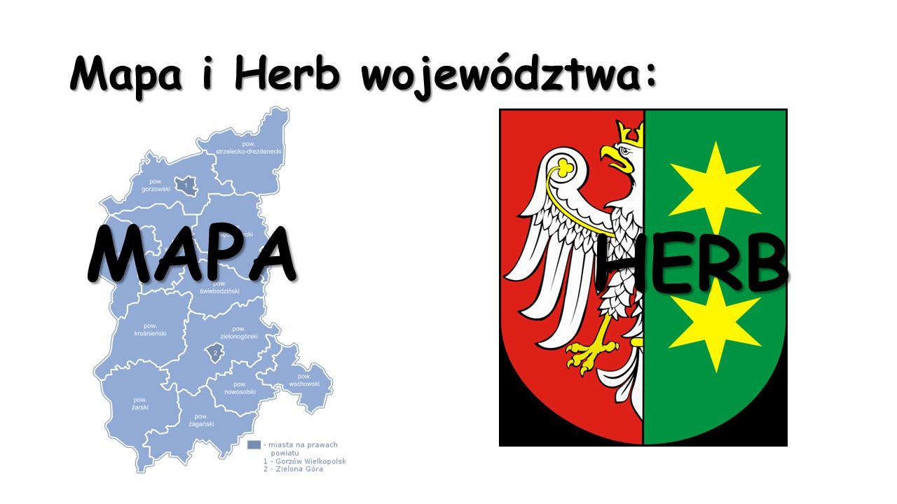 Mapa i Herb województwa: