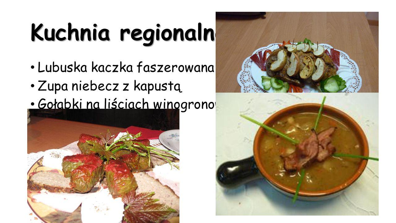 Kuchnia regionalna Lubuska kaczka faszerowana Zupa niebecz z kapustą