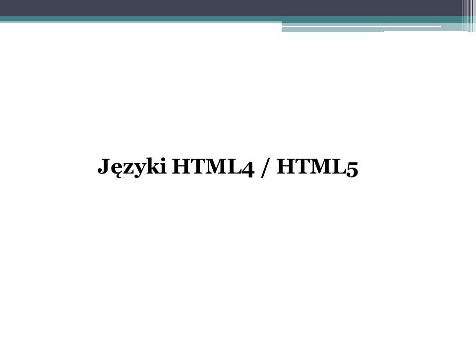 Języki HTML4 / HTML5