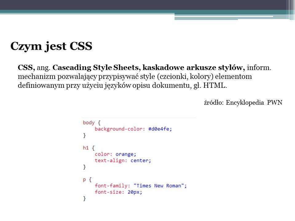 Czym jest CSS