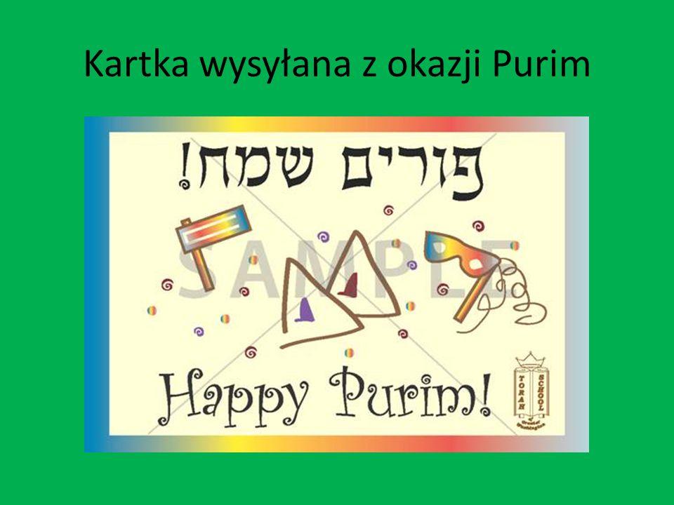 Kartka wysyłana z okazji Purim