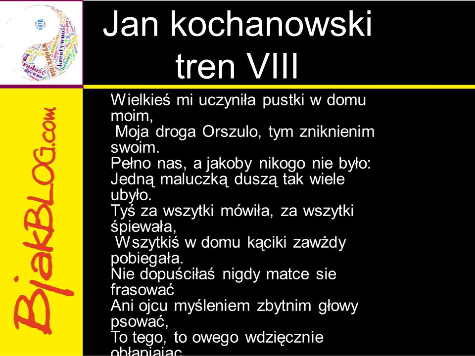 Jan kochanowski tren VIII