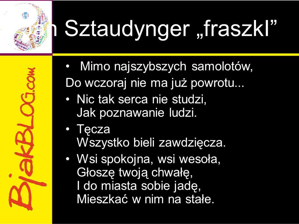 "Jan Sztaudynger ""fraszkI"