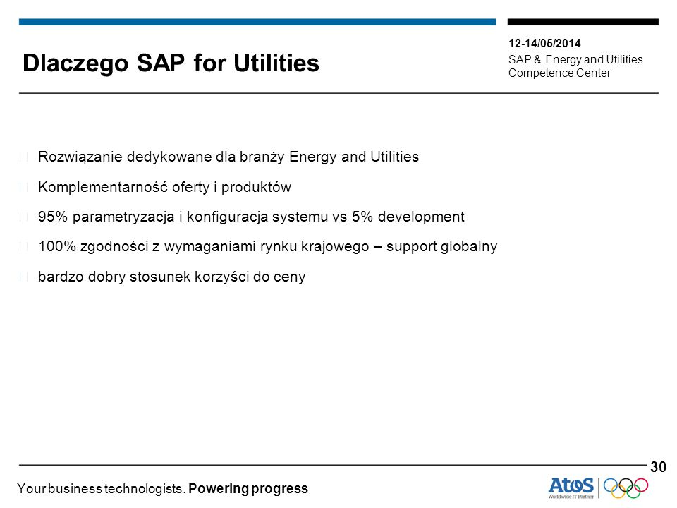 Dlaczego SAP for Utilities