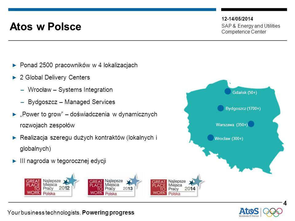 Atos w Polsce 4 Ponad 2500 pracowników w 4 lokalizacjach