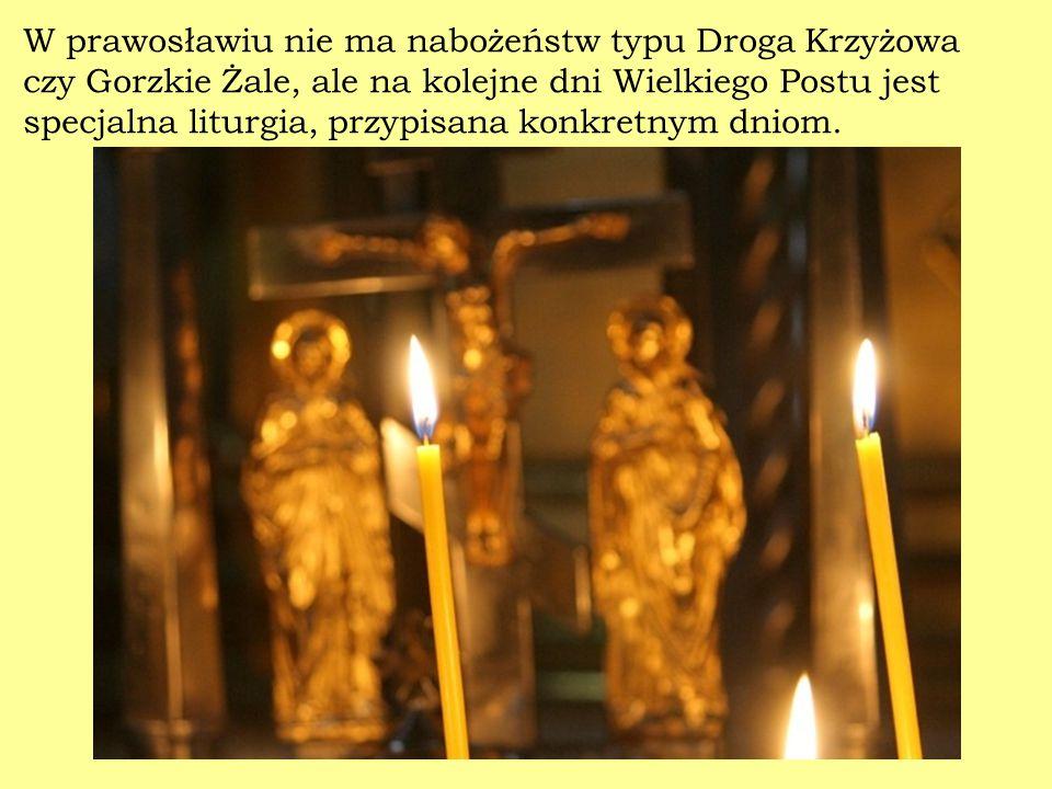 W prawosławiu nie ma nabożeństw typu Droga Krzyżowa