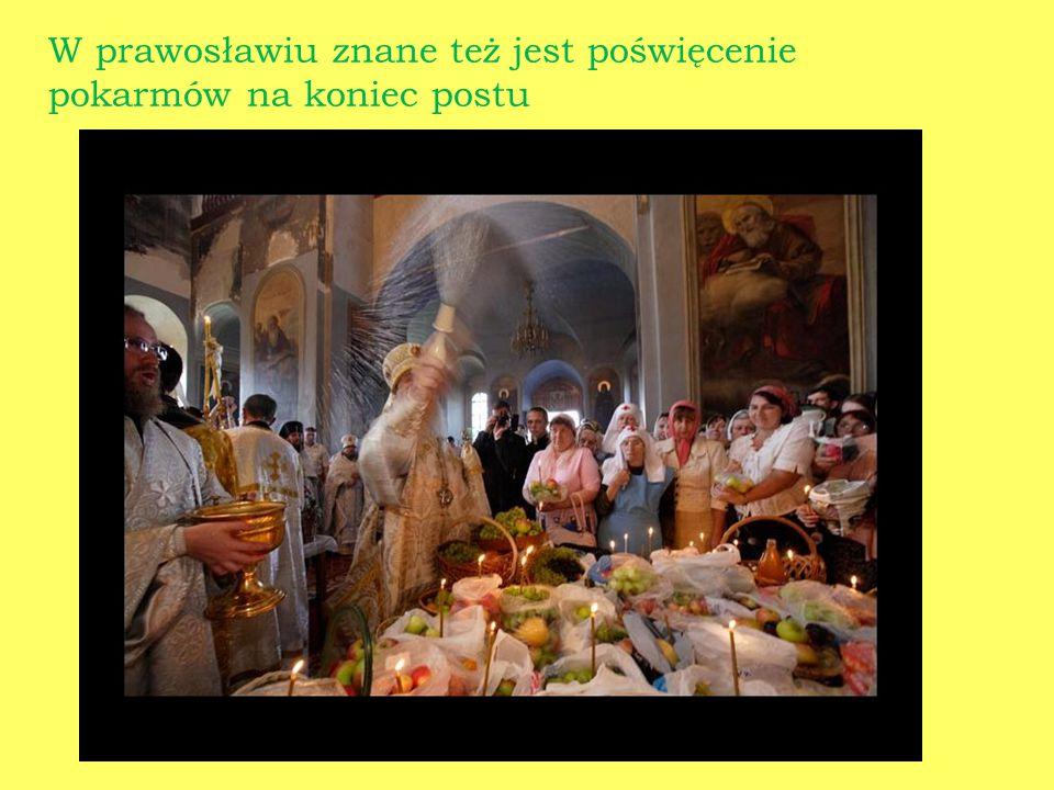 W prawosławiu znane też jest poświęcenie